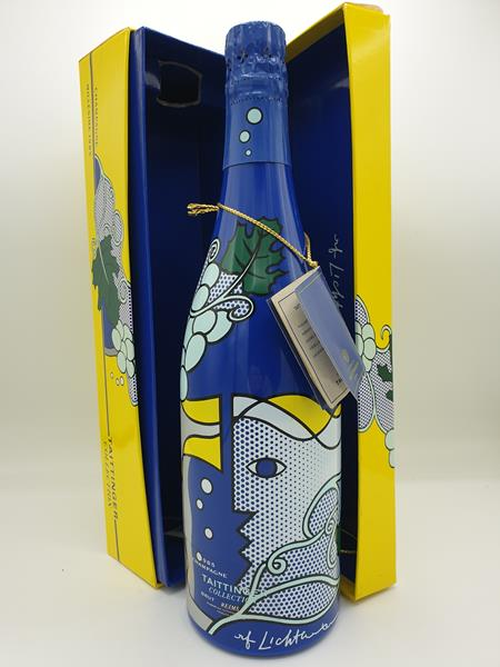 Taittinger Collection Roy Lichtenstein 1985 with 4 Glasses and box