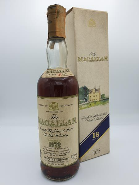 Macallan 1972 - 18 Year old 43% Distillery Bottling Speyside Single Malt Scotch Whisky NV