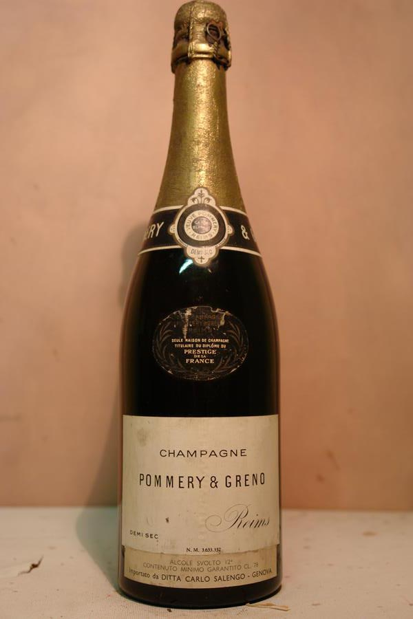 Pommery & Greno Champagne Demi Sec  NV 'old release' from the 1960´s